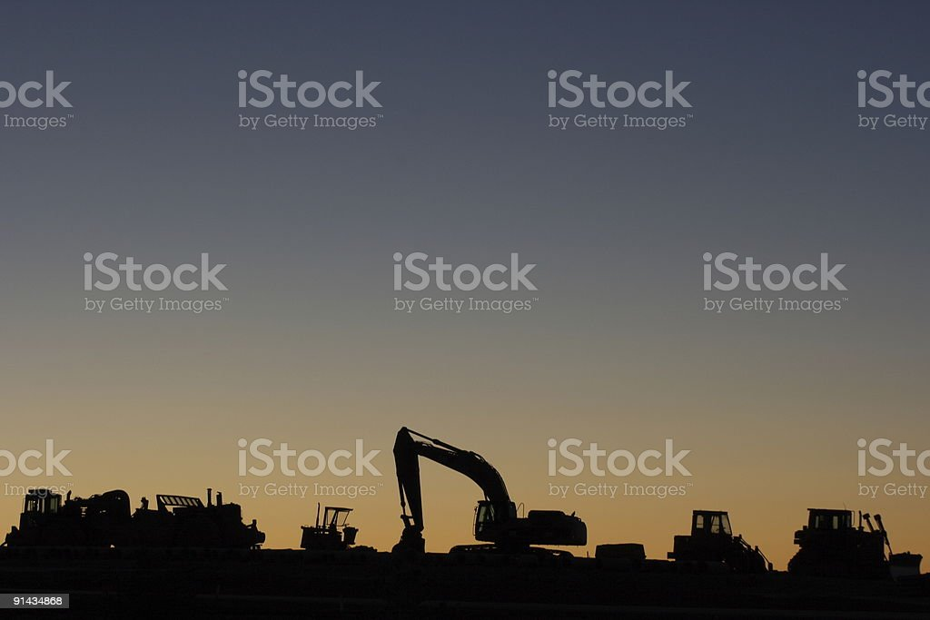 Earth movers at rest royalty-free stock photo