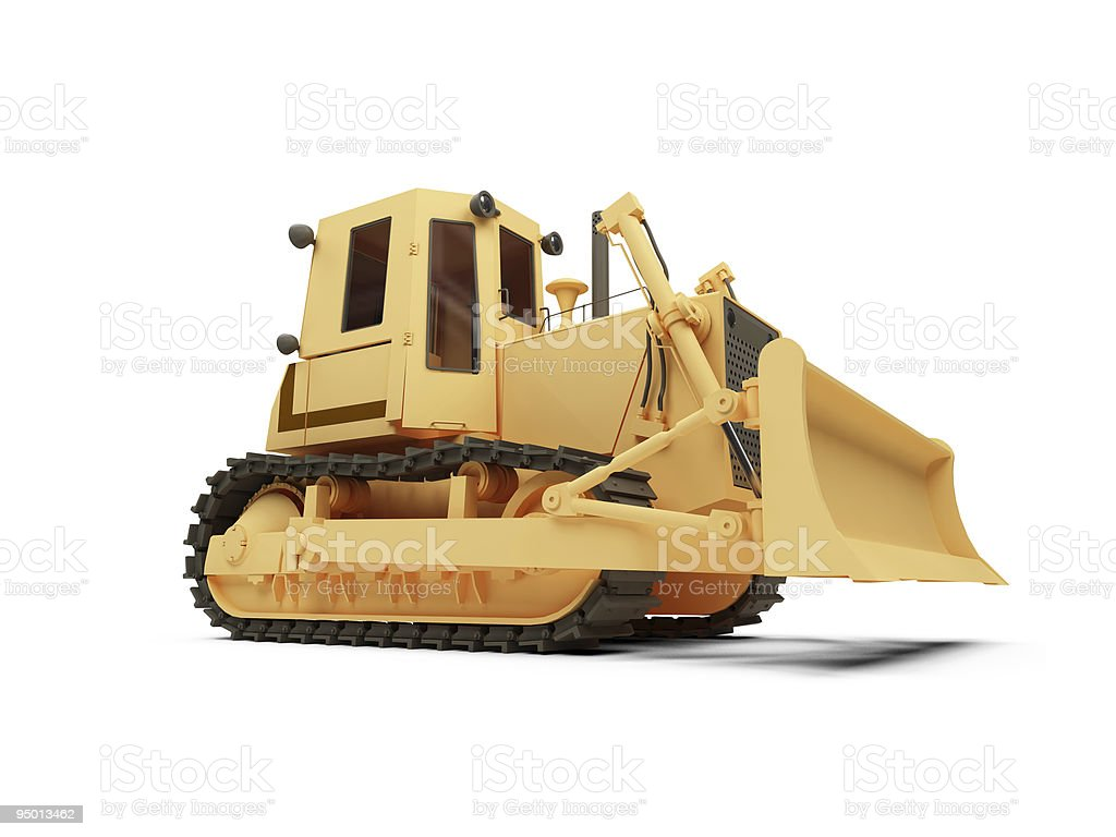 Earth moving machine isolated view royalty-free stock vector art