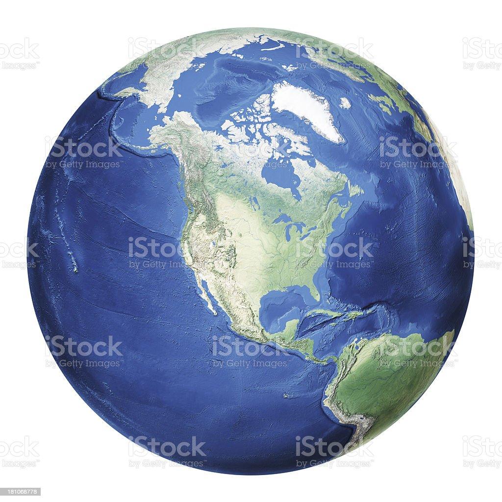 Earth North America royalty-free stock photo