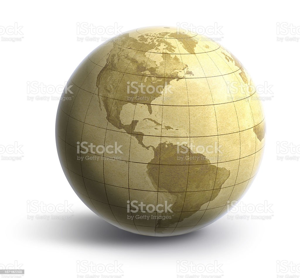 Earth: Old World Americas royalty-free stock photo