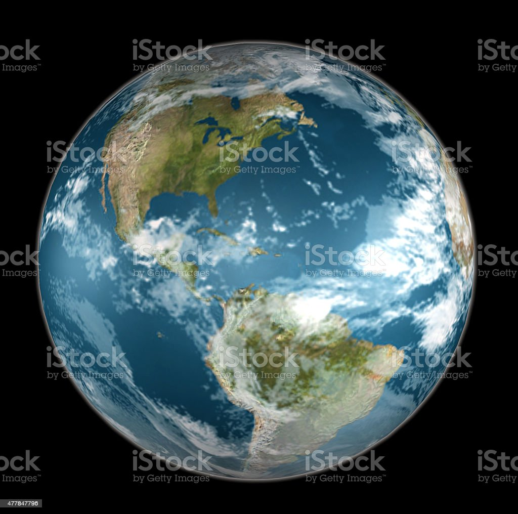 Earth On Black stock photo