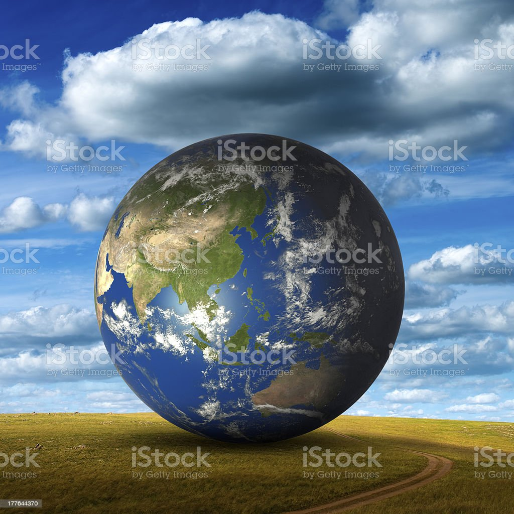Earth On Grassland royalty-free stock photo