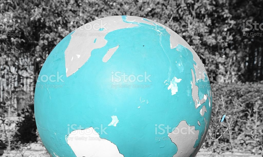 Earth on nature background stock photo