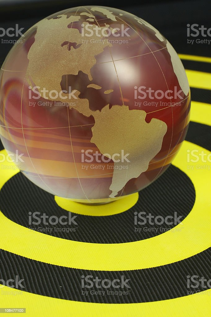Earth on target royalty-free stock photo
