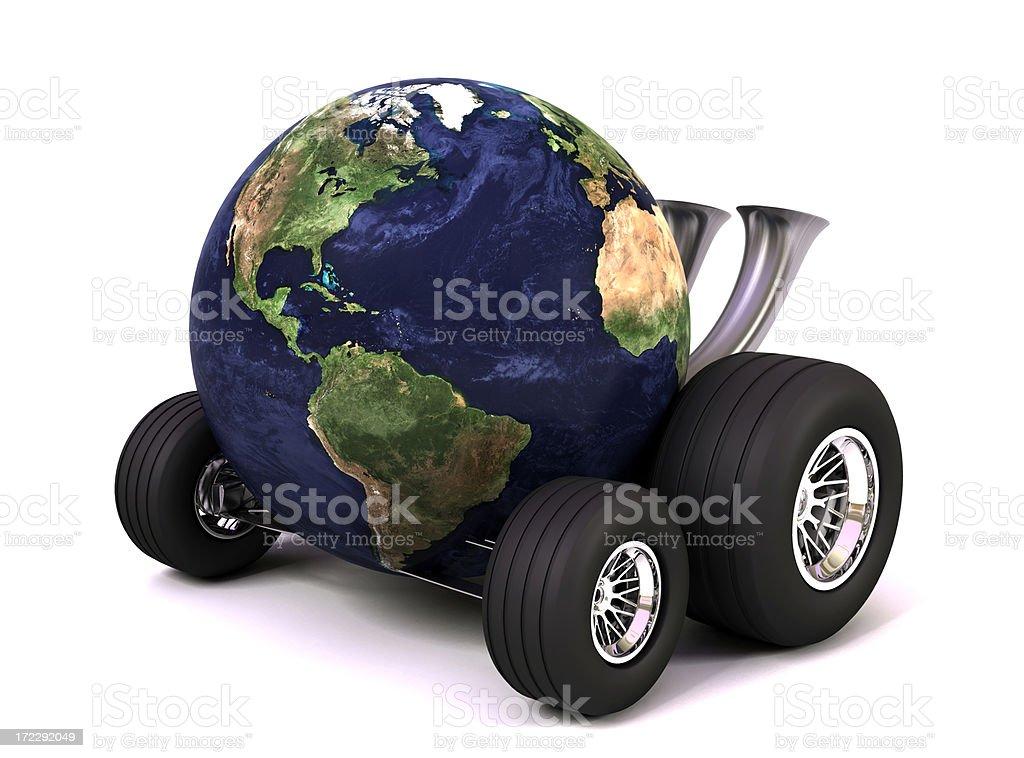 Earth on Wheels royalty-free stock photo