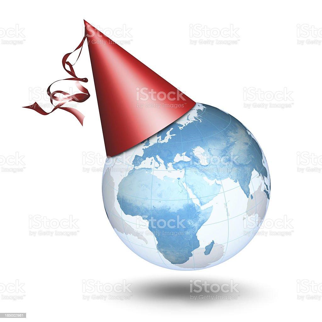 Earth Party - European Eastern Hemisphere royalty-free stock photo