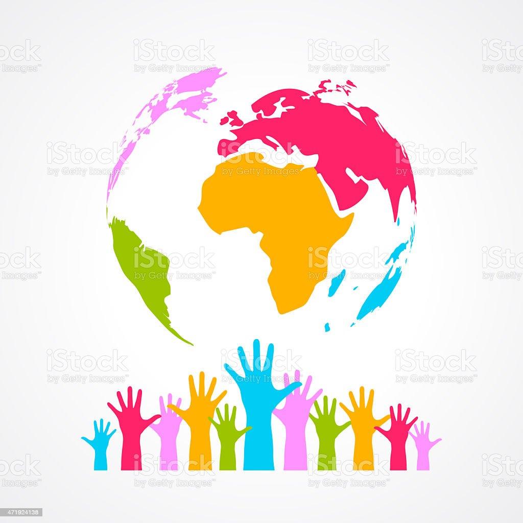 Earth peace symbol stock photo