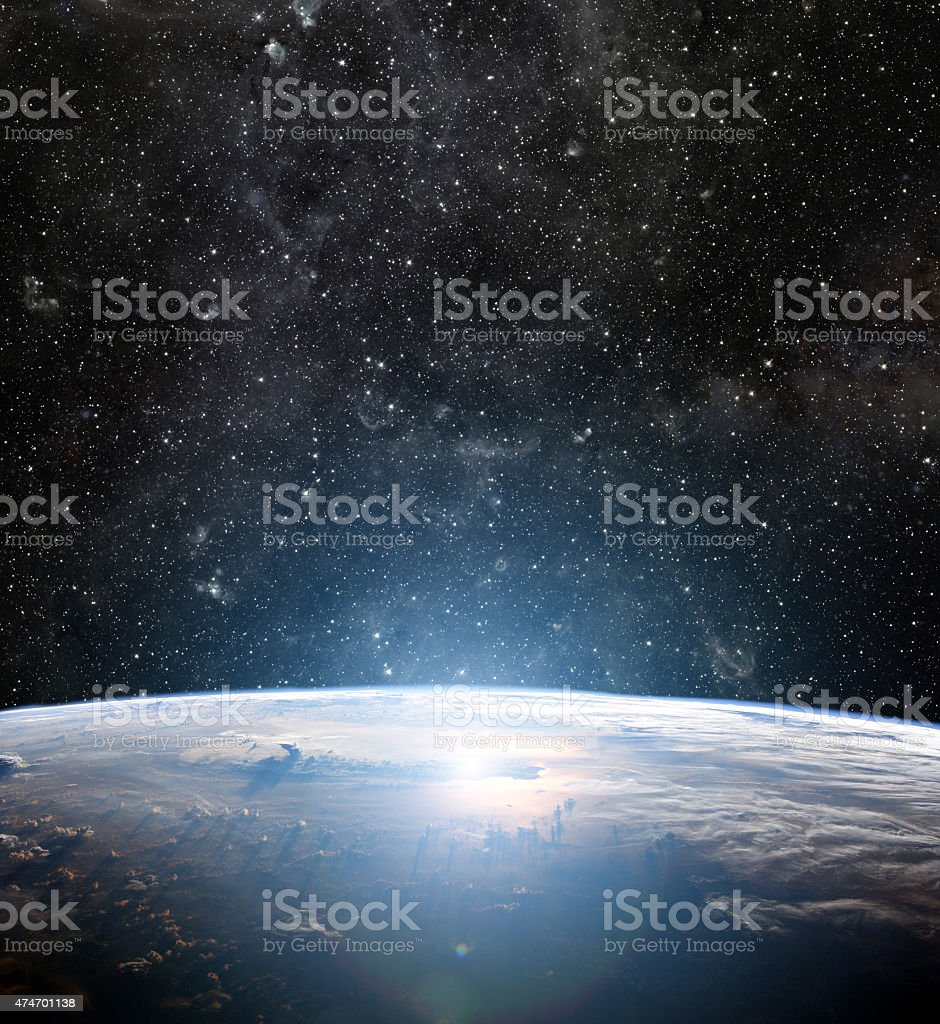 Earth planet. Elements of this image are furnished by NASA stock photo