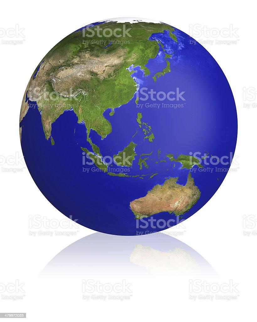 Earth planet globe map. stock photo