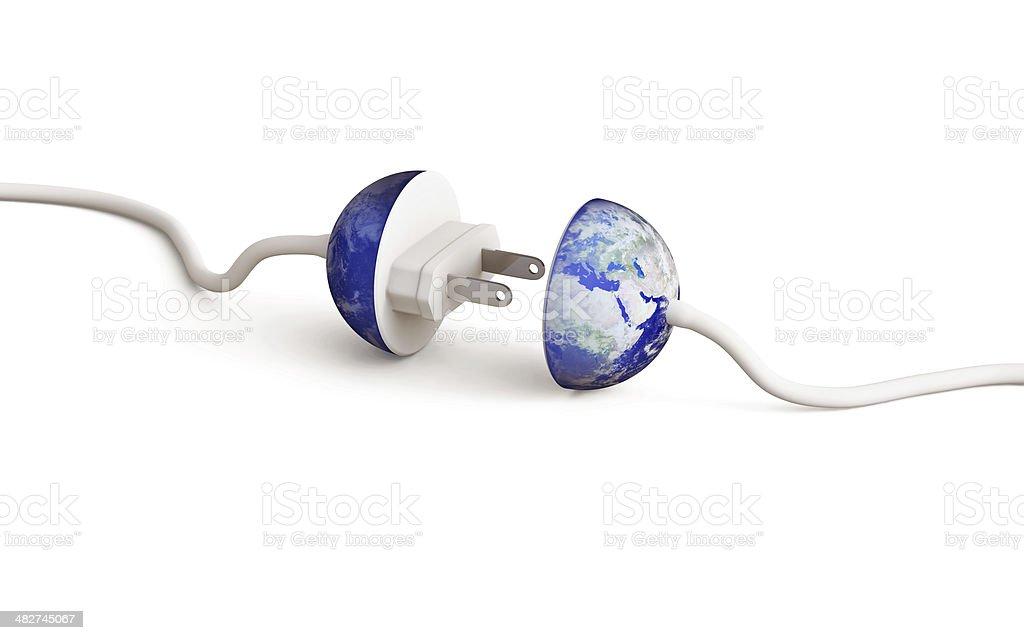 Earth Plug stock photo