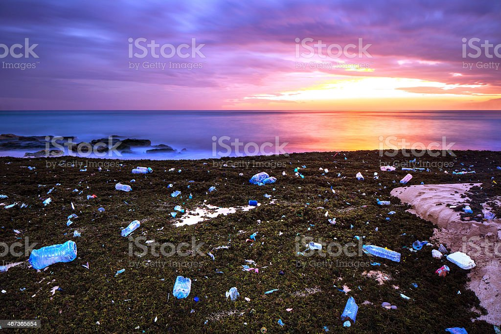 Earth pollution concept stock photo