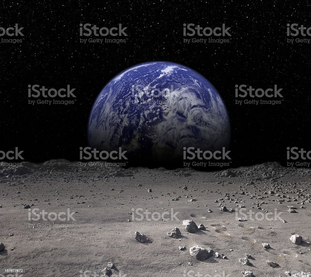 Earth Rising royalty-free stock photo