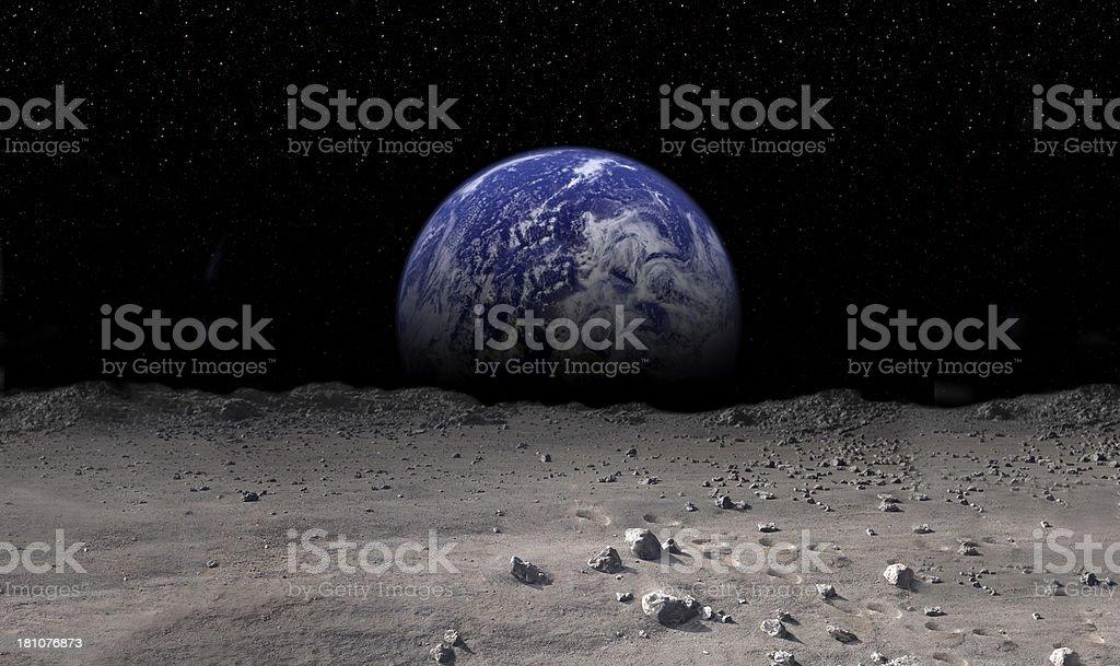 Earth Rising stock photo
