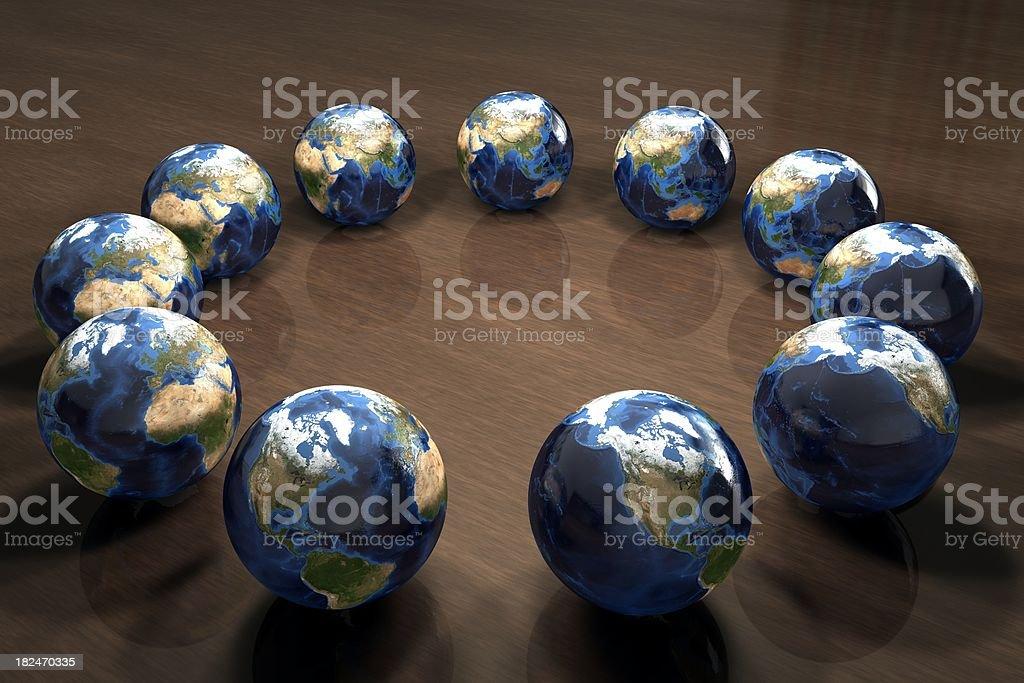 Earth Rotation stock photo