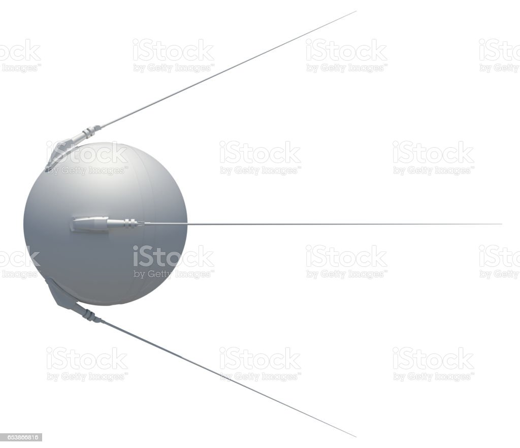 Earth satellite sputnik stock photo