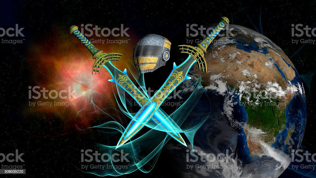 Earth Space Fighters stock photo