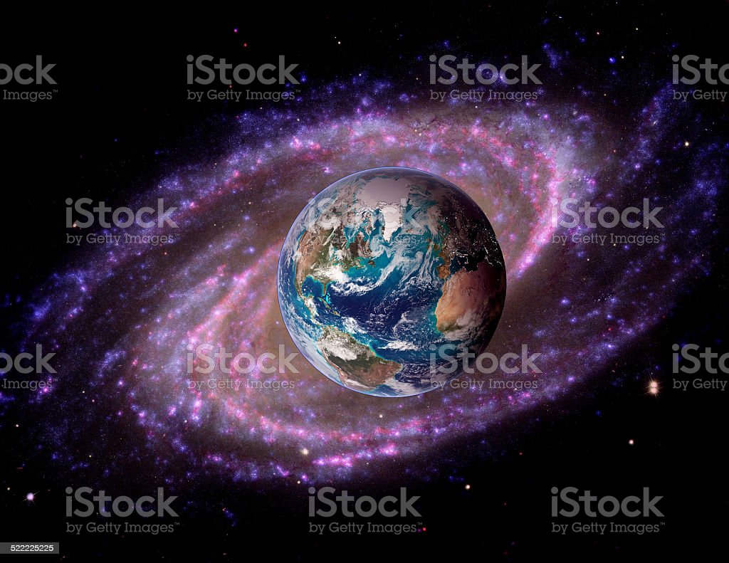 Earth Space Universe Galaxy stock photo