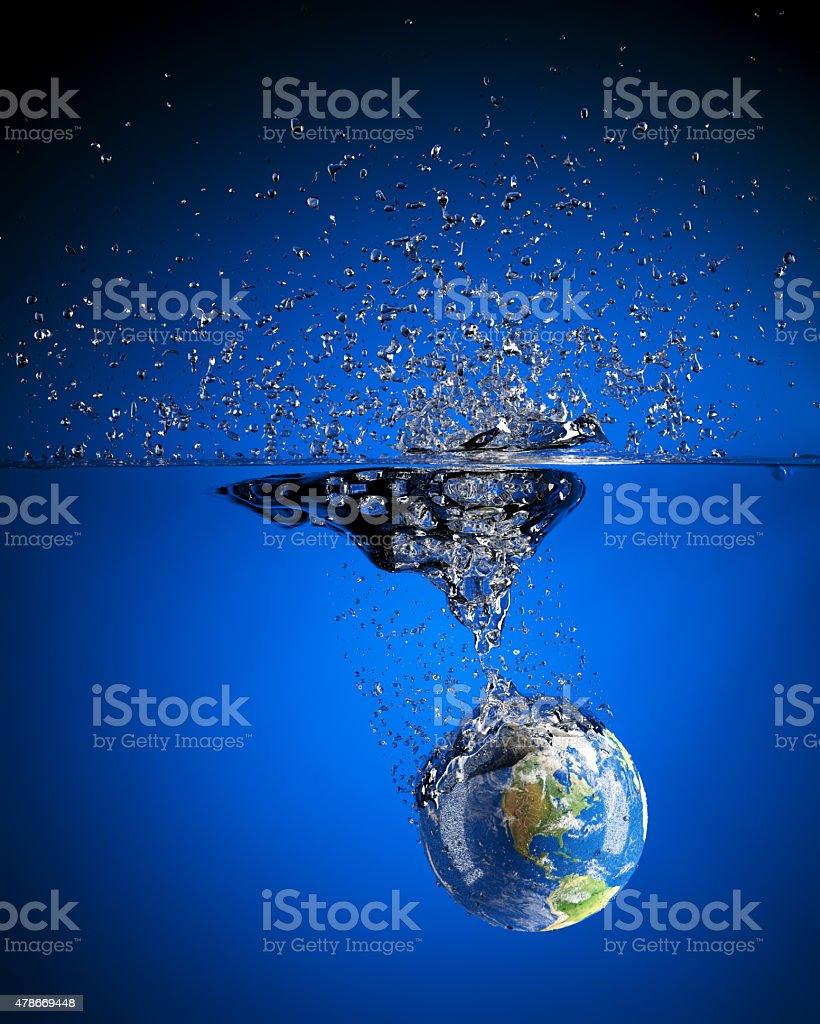 Earth Splash stock photo