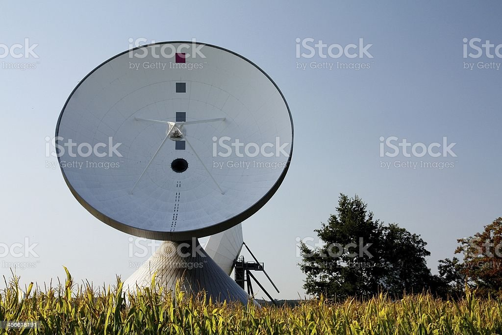 Earth Station Raisting royalty-free stock photo