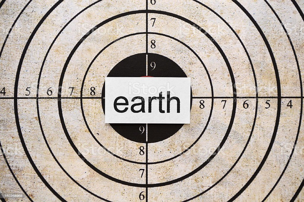 Earth target royalty-free stock photo