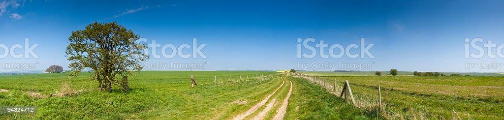 Earth trail to green horizon royalty-free stock photo