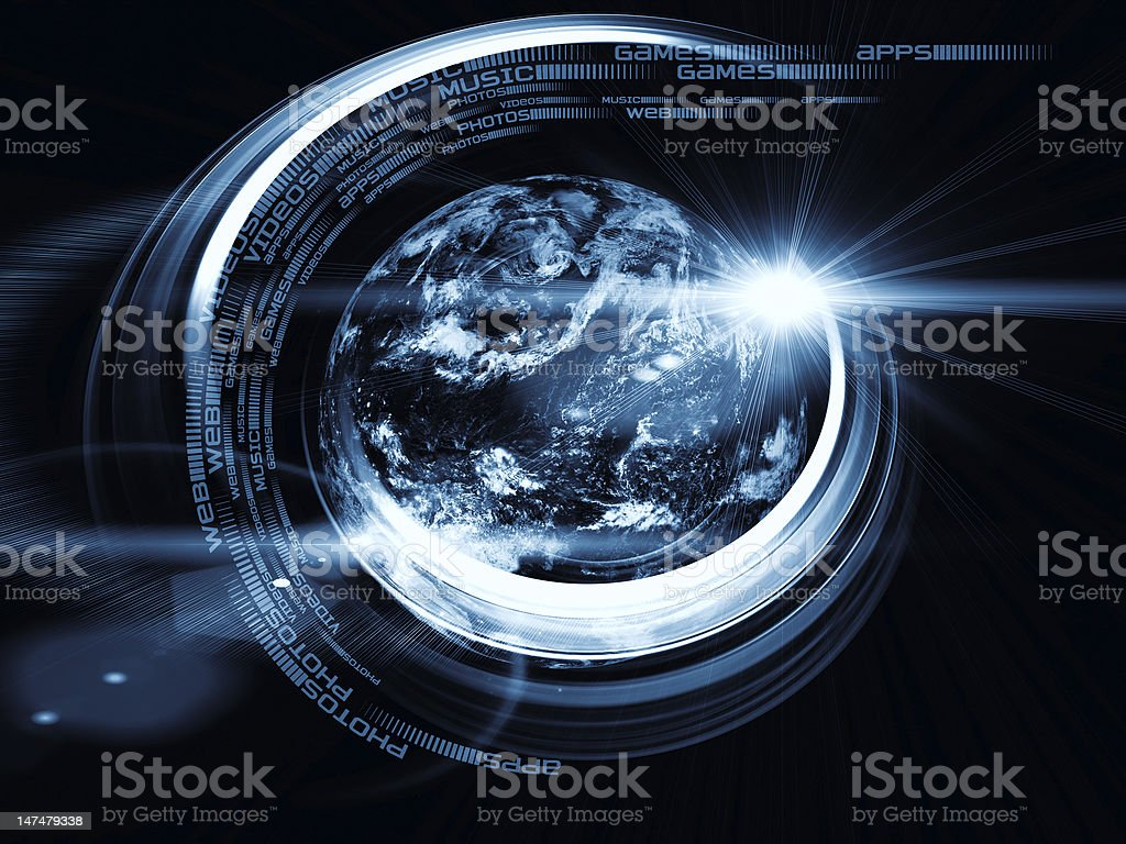 Earth Trails Abstraction royalty-free stock photo