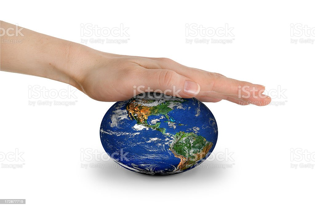 Earth under pressure royalty-free stock photo