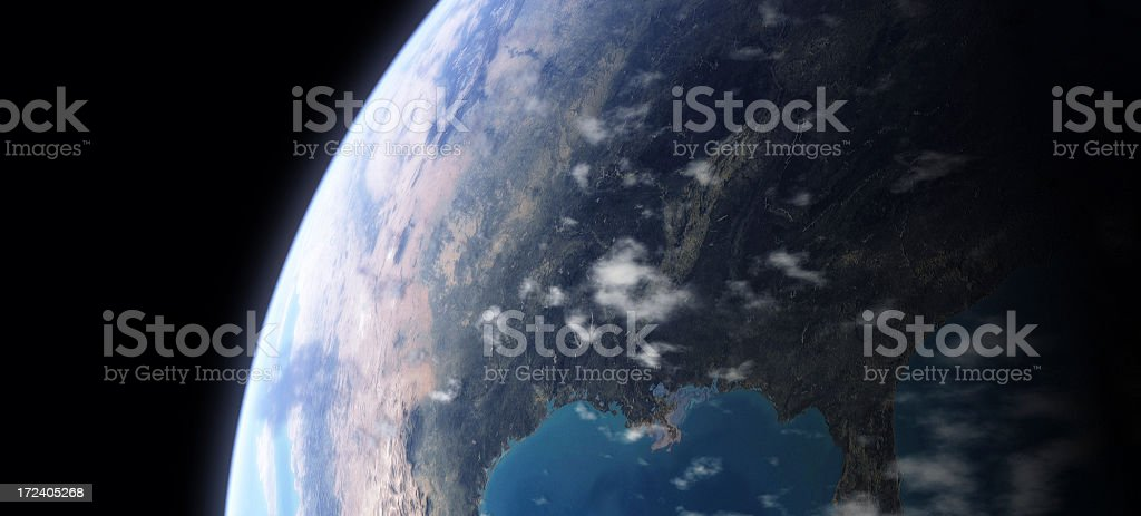 Earth - USA prominent royalty-free stock photo