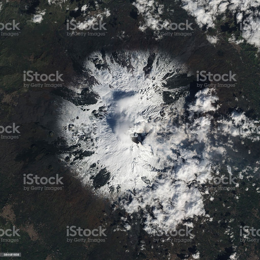 Earth view from space. stock photo