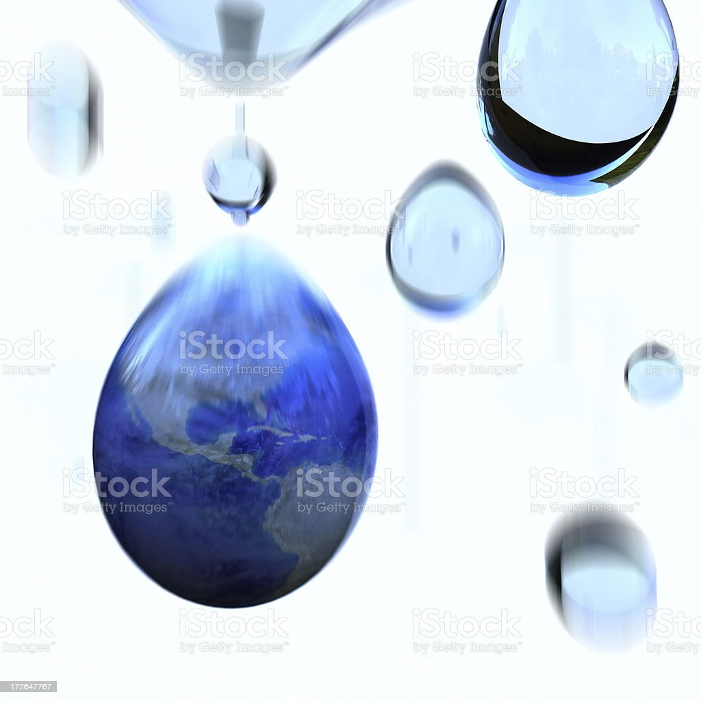 Earth Water Drop royalty-free stock photo