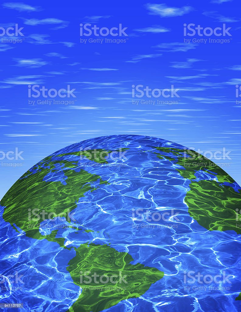 Earth with reflection royalty-free stock photo