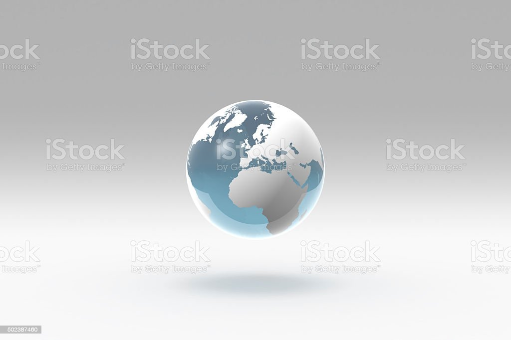 Earth, World Globe, Europe stock photo