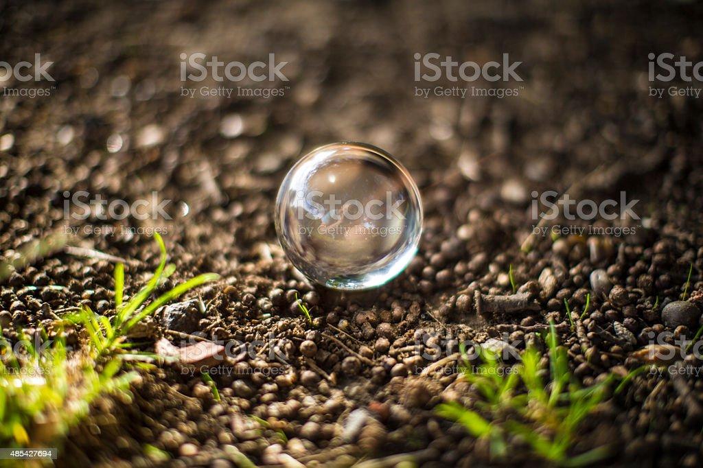 earthen floor bubble stock photo