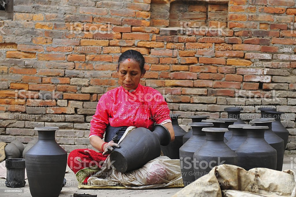 Earthenware at Bhaktapur royalty-free stock photo