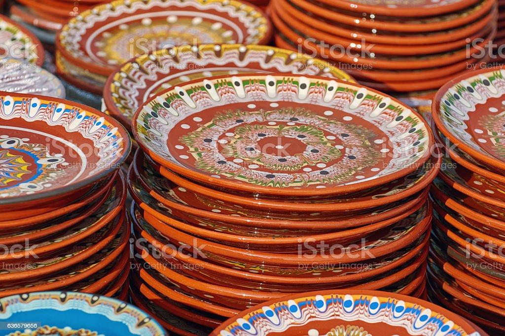 Earthenware Crockery stock photo