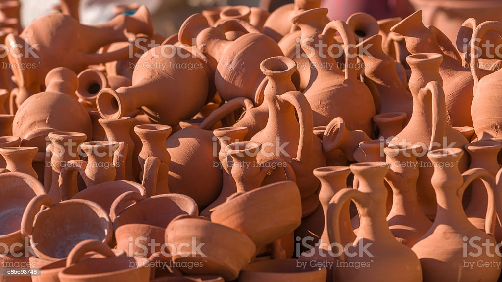 earthenware on sale stock photo