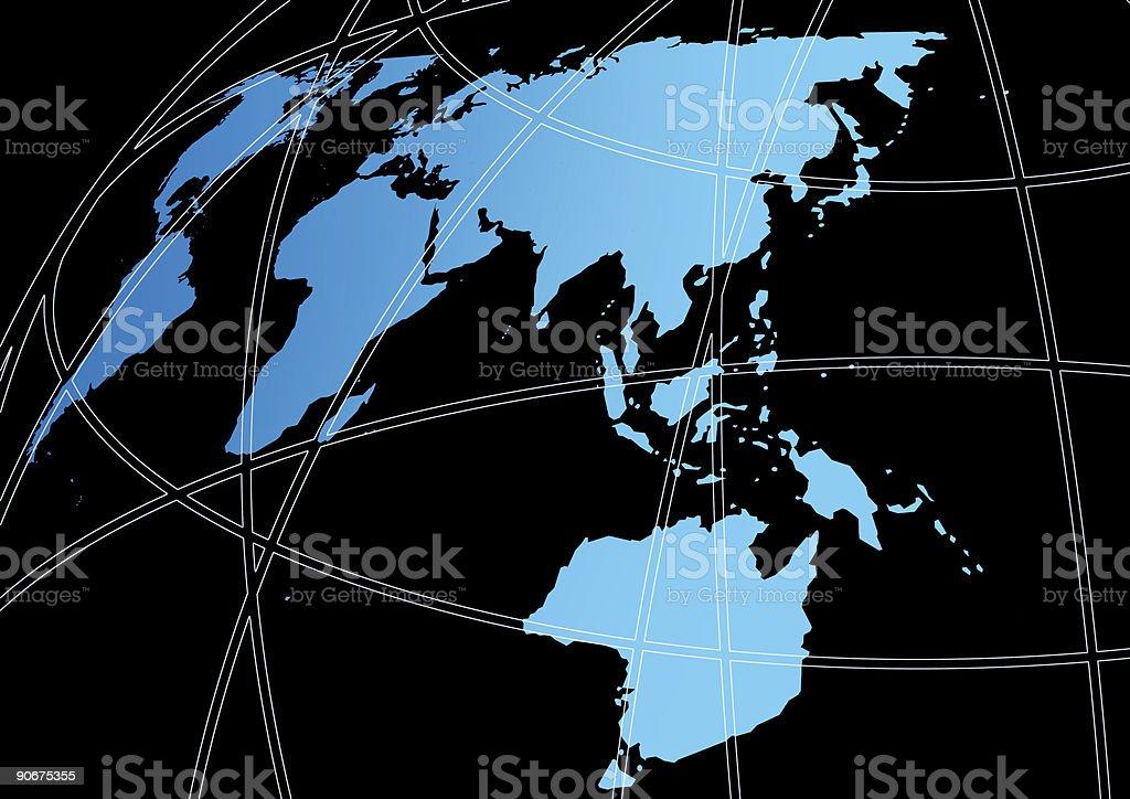 Earthmap royalty-free stock photo