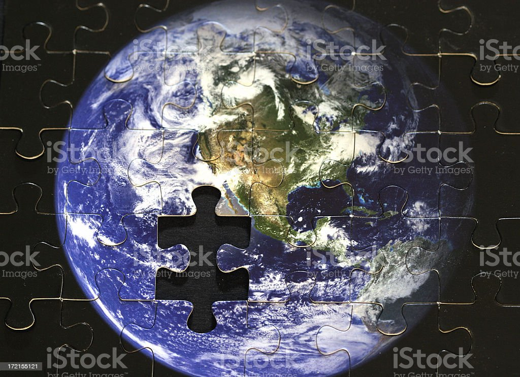Earth--Missing Piece royalty-free stock photo
