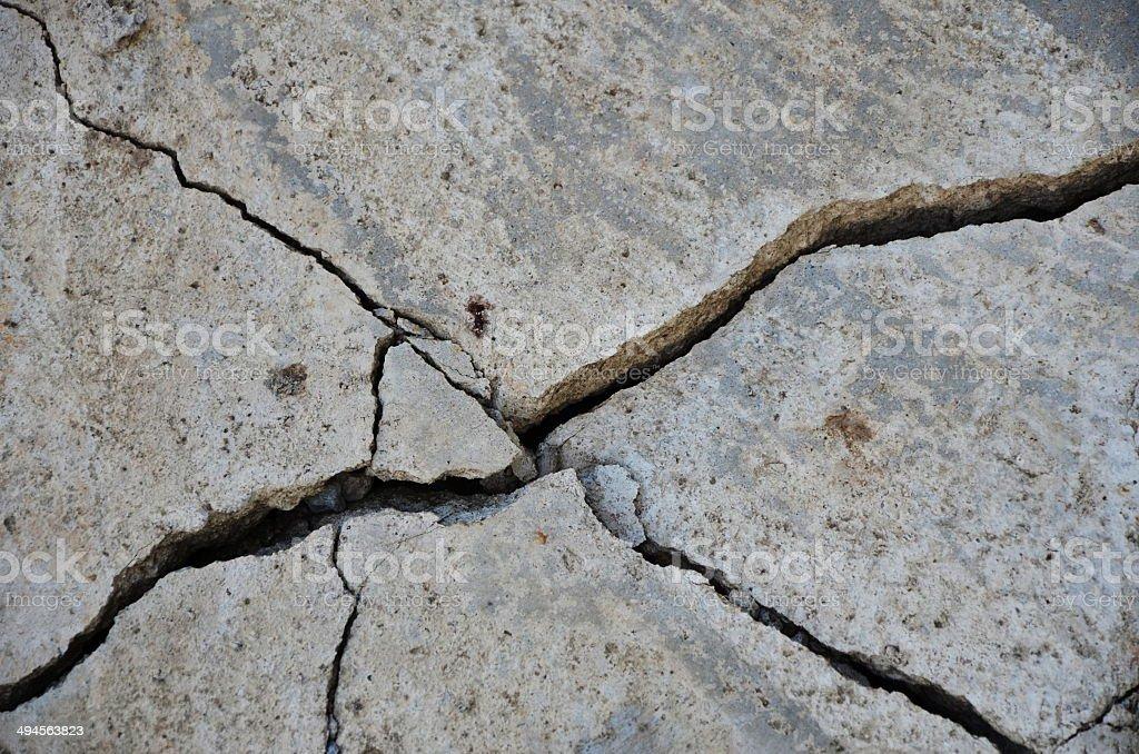 Earthquake building wall stock photo