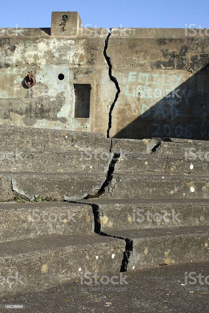 Earthquake Crack in Cement royalty-free stock photo