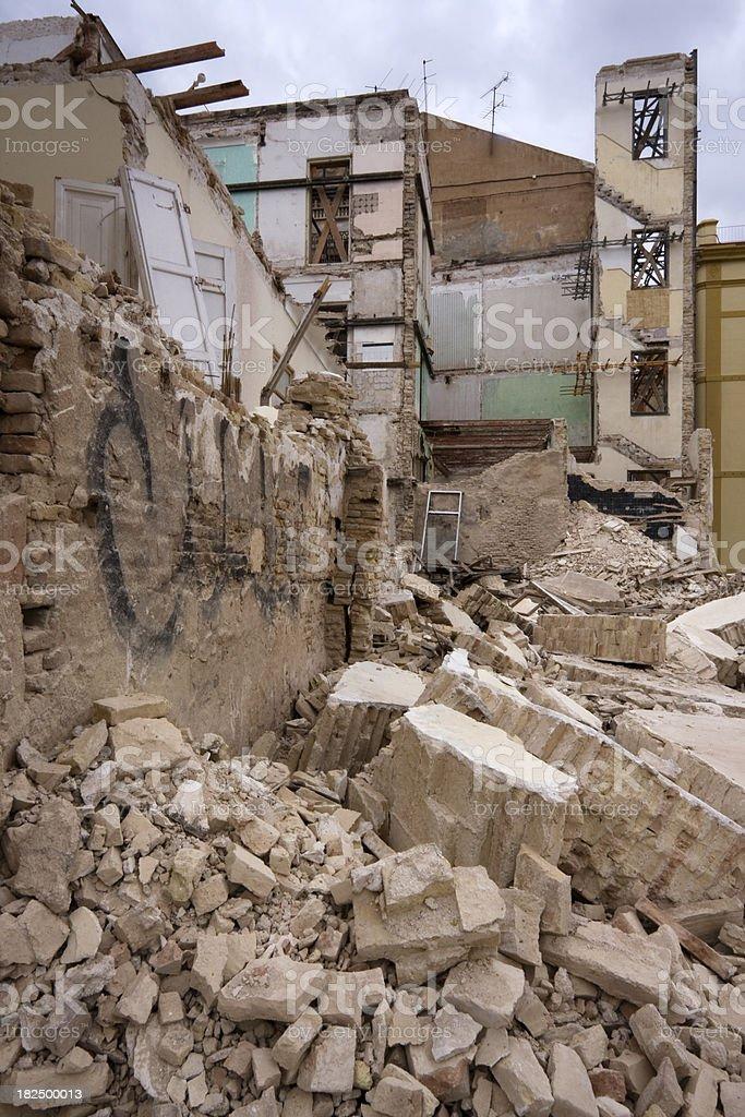 Earthquake damage stock photo
