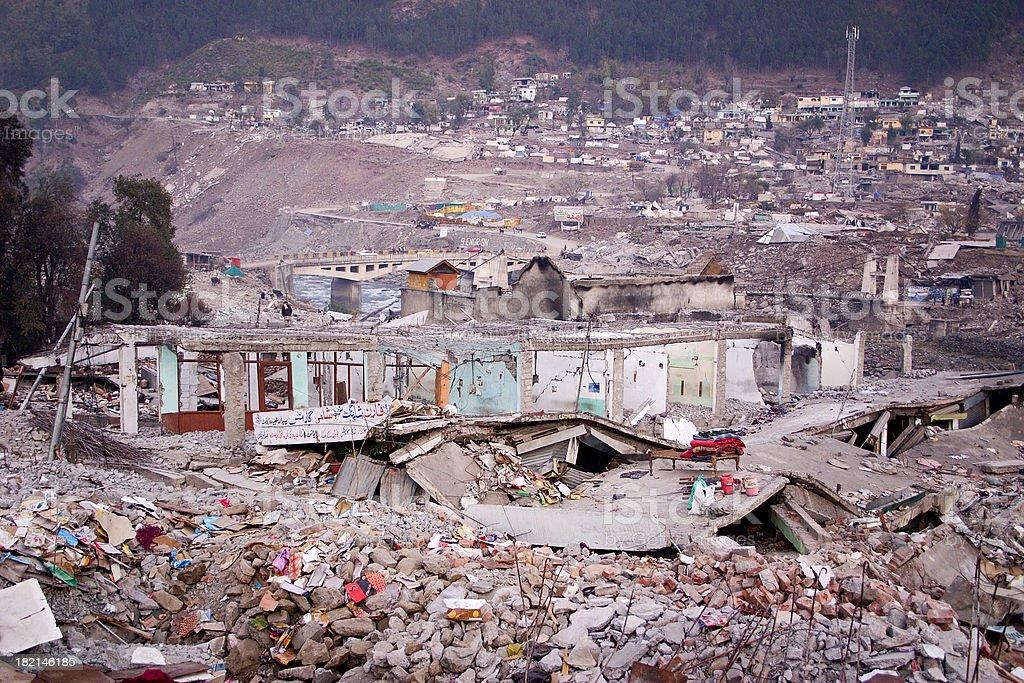 Earthquake Devastation stock photo