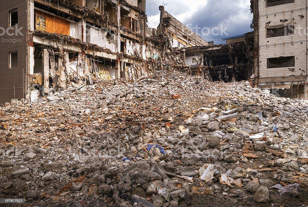 Earthquake Disaster - XLarge royalty-free stock photo