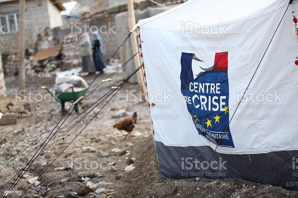 Earthquake in Van, Turkey royalty-free stock photo