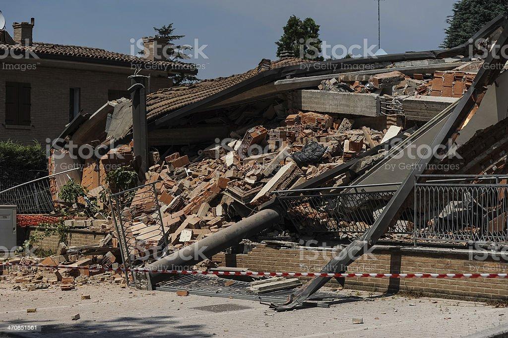 earthquake Italy stock photo