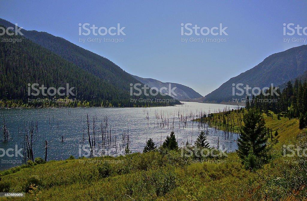 Earthquake Lake stock photo