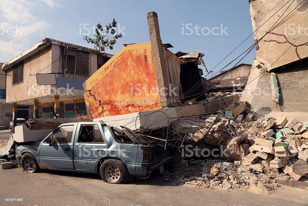 Earthquake royalty-free stock photo
