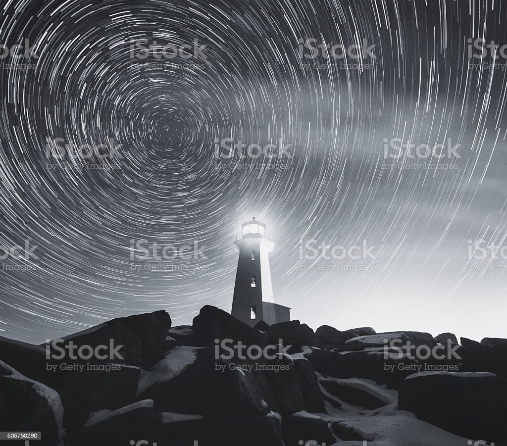 Earth's Axial Lighthouse stock photo