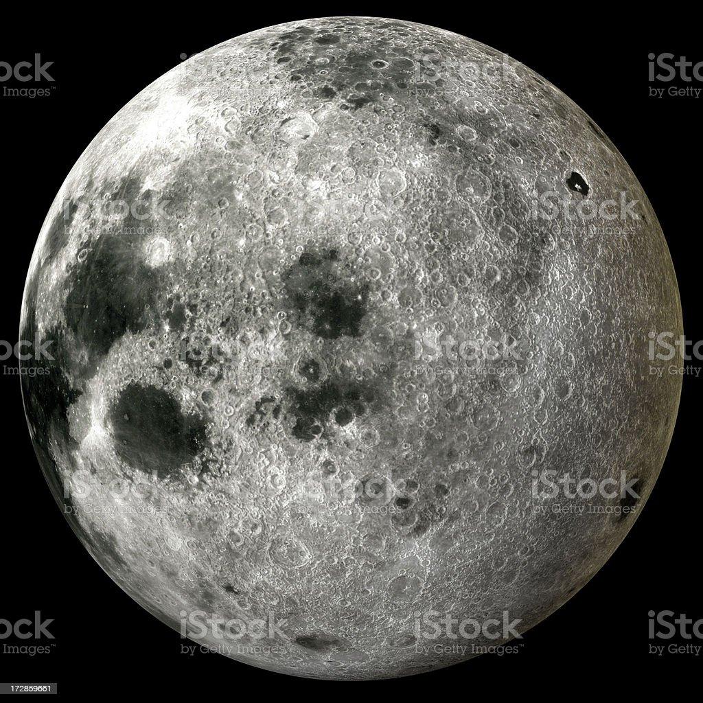 Earth's Full Moon royalty-free stock photo