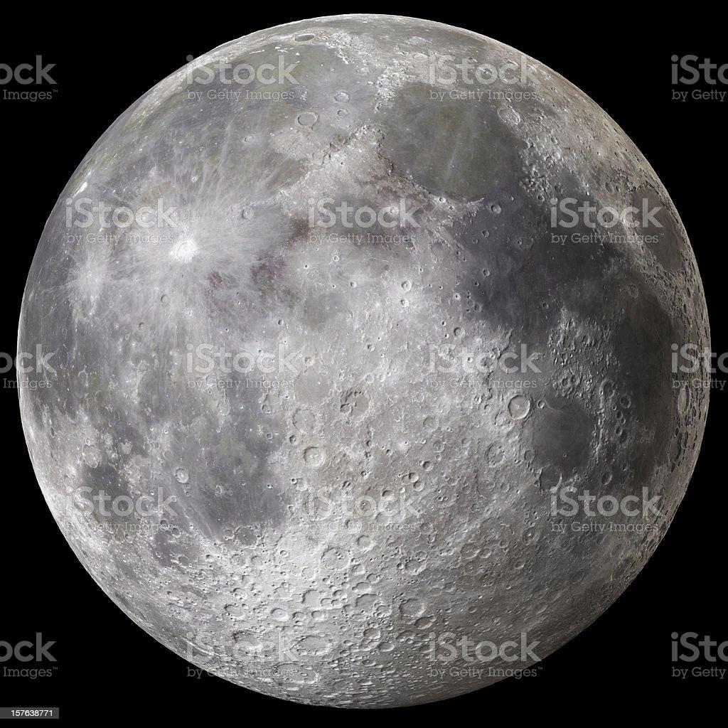 Earth's Full Moon v3 stock photo